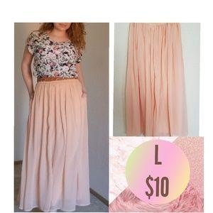 Dresses & Skirts - Peach Maxi Skirt